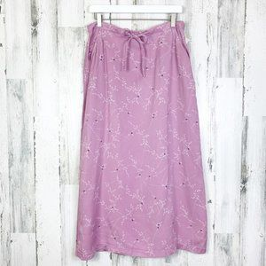 Linden Hill NWT Lilac Dainty Floral Maxi Skirt